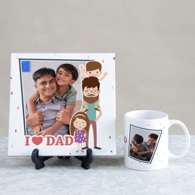 Dad I Mug Tileamp; Love Personalized f7vYby6g