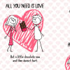 Shop All You Need is Love Cotton Bedsheet with Pillow Covers