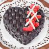 Buy Basket Weave Heart Chocolate Cake (Half Kg)
