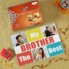 Best Brother Personalized A4 Paper Puzzle with Soan Papdi Online