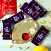 Bhai Dooj Tikka Thali with Cadbury Chocolates Hamper Online