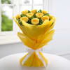 Gift Bouquet of 10 Yellow Roses with Cadbury Celebrations