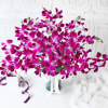 Gift Bouquet of Purple Orchids in Glass vase (10 Stems)