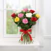 Gift Bunch of 10 Mix Colour Roses & Cadbury Dairy Milk Fruit & Nut