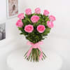 Gift Bunch of 10 Pink Roses With Assorted Chocolates