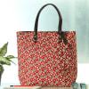 Buta Motif Designer Handbag with Zipper Pouch Online