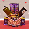 Cadbury Chocolates Hamper in Decorative Basket Online