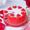 Shop Classic Red Velvet Cake (Eggless) (1 Kg)