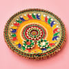 Gift Colorful Zari Work Puja Thali