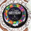 Buy Colourful Birthday Wishes Cake (Half Kg)