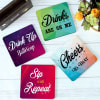 Gift Customized Drink Up Coasters - Set of 4