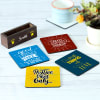 Buy Customized Positive Quotes  Coasters - Set of 4