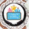 Buy Cute Animals First Birthday Cake for Boy (Half Kg)