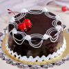 Dark Chocolate Cake (Eggless) with Cherry Toppings (2 Kg) Online