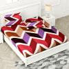 Gift Designer Bedsheet with Chevron Patterns