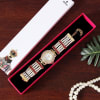 Buy Designer Party Watch in Ivory and Coral