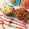 Divine Rakhi Set Of 3 With Dry Fruits Online