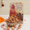 Diwali Card With 200 Gms Almonds Online