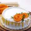 Fresh Mango Cream Cake (2 Kg ) with Flower Topping Online