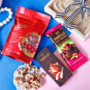 Gift Gourmet Chocolate Hamper Jute Wrapped in Tray