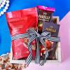 Gourmet Chocolate Hamper Jute Wrapped in Tray Online