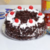 Gift Half Kg Black Forest Cake (Eggless) With Gulab Jamun 1 Kg & Two Earthen Diyas
