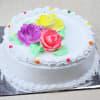 Gift Half Kg Round Vanilla Cake with Bunch of 12 Mix Gerberas