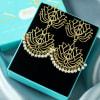 Buy Handmade Chromium Plated Designer Earrings