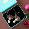 Buy Handmade Rajasthani Meenawork Earrings with Pearls