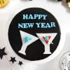 Gift Happy New Year Chocolate Cake (Half Kg)