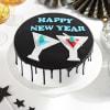 Happy New Year Chocolate Cake (Half Kg) Online