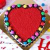 Gift Heart Shape Gems Red Velvet Cake(1 Kg)