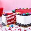 Shop Heart Shape Gems Red Velvet Cake(Half Kg)