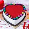 Heart Shape Gems Red Velvet Cake(Half Kg) Online