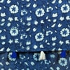 Buy Indigo Cotton Stole with Floral Motifs and Tassels