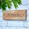 Gift Leaves Design Wooden Name Plate