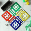 Gift Ludo Game Board Coasters with Accessories & Personalized Holder