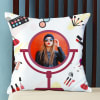 Makeup Themed Personalized Cushion Online