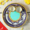 Gift Marble Puja Thali With Roli and Moli