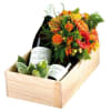 Mixed colourful bouquet with wine Online