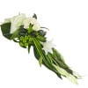 Modern funeral spray of white lilies Online