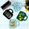 Buy Mug Shaped Personalized Coaster Set for Birthday