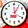 Gift New Year Clock Butterscotch Cake (Half Kg)