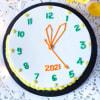 Gift New Year Clock Vanilla Cake (Half Kg)