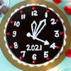 Gift New Year Watch Chocolate Truffle Cake (Half Kg)