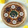 Gift Peacock Meenakari Decorative Metal Puja Thali