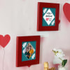 Gift Personalized Anniversary Wooden Frame Set