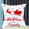 Personalized Christmas Greetings Cushion with Filler Online
