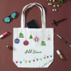 Personalized Christmas Ornament Design Canvas Shopping Bag Online