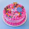 Pink Party Popper Cake (Half Kg) Online